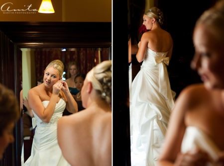 bride wedding preparation forest house lodge