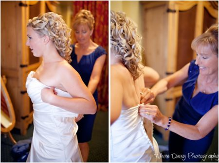 bridal gown preparation