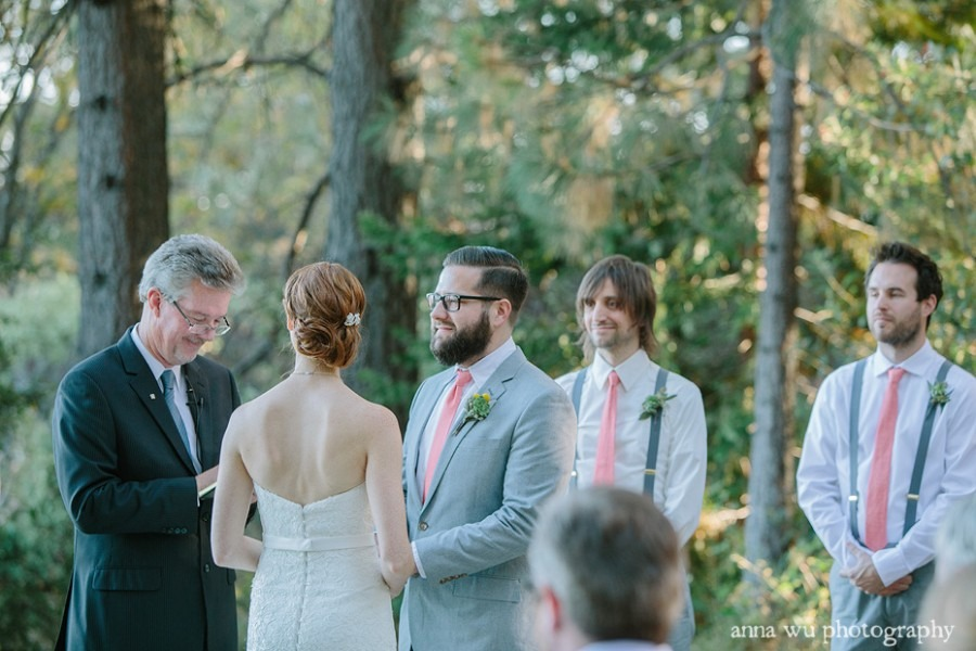 wedding ceremony at foresthill