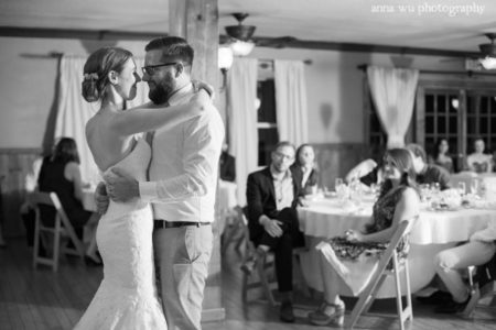 wedding bride and groom dancing romantically
